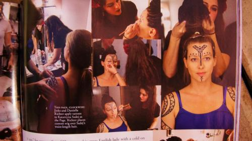 Appearance in Makeup Magazine for costume and makeup in LA Opera's Salome production