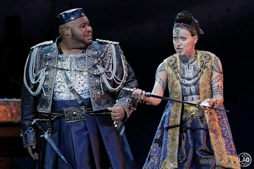 The Page of Herodias in Strauss' Salome at LA Opera, with tenor Issacha Savage