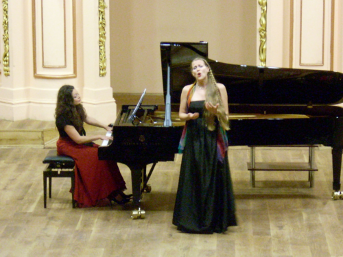 Recital at Lviv Philharmonic with Marianna Humetska, Ukraine